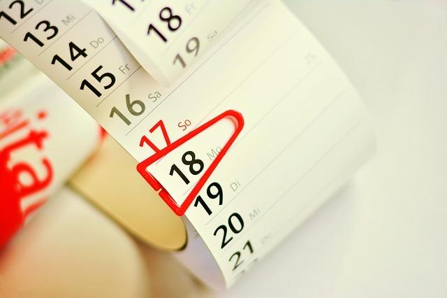 datum kiezen voor evenement